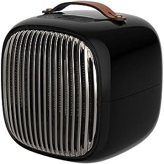 PEIQI HOME Calefactor Calentador Pequeño para Hogar Y Oficina con Protección contra Vuelcos, 800W / 480W / Viento Natural 5W,Black