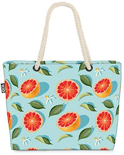 VOID Summer Grapefruit Strandtasche Shopper 58x38x16cm 23L XXL Einkaufstasche Tasche Reisetasche Beach Bag