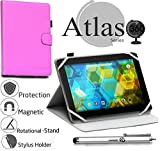 Navitech Purple 360 Rotational Case Cover Compatible with The Vuru A33 7-Inch 8GB Tablet