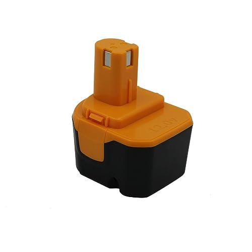 KINSUN Remplacement Outil électrique Batterie 12V 2.0Ah pour Ryobi Perceuse Sans Fil Pilote d'impact B-1230H, B-1222H, B-1220F2, B-1203F2, 1400652, 1400652B, 1400670 et Plus