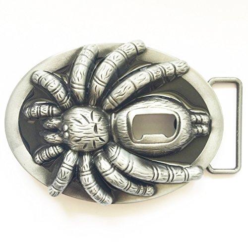 Happy Star® tarántula hebilla de cinturón Metal botella de cerveza abridor