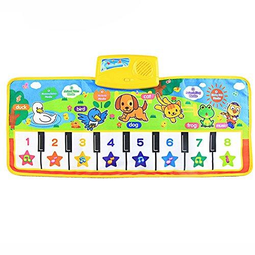 Naladoo New Touch Play Keyboard Musical Music Singing Gym Carpet Mat Best Kids Baby Gift Pink