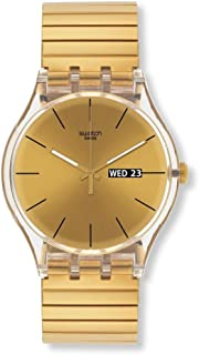 Swatch Unisex SUOK702A Dazzling Light Analog Display Quartz Gold Watch