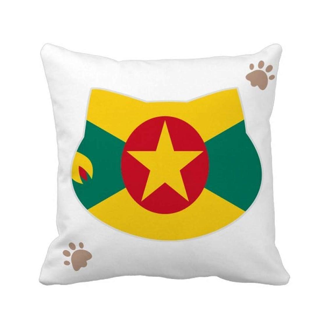 宿泊施設値下げレギュラーグレナダ島北アメリカの国家エンブレム 枕カバーを放り投げる猫広場 50cm x 50cm
