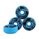 Focket Ruedas de patineta Longboard, 52 mm x 30 mm 3 Piezas duraderas Ruedas de monopatín Longboard, para DIY Patinetas eléctricas(Azul)