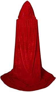 MIS1950s Fashion Halloween Cloak Masquerade Party Hooded Tops Novelty Long Robe Cosplay Costumes