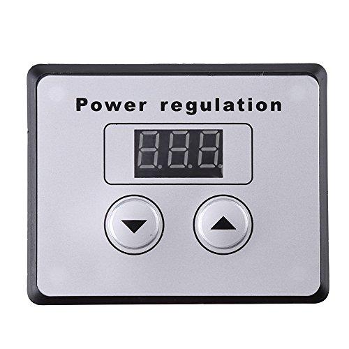 Dimmerschakelaar, 10000W SCR digitale spanningsregelaar toerentalregeling dimmer thermostaat AC 220 V 80 A
