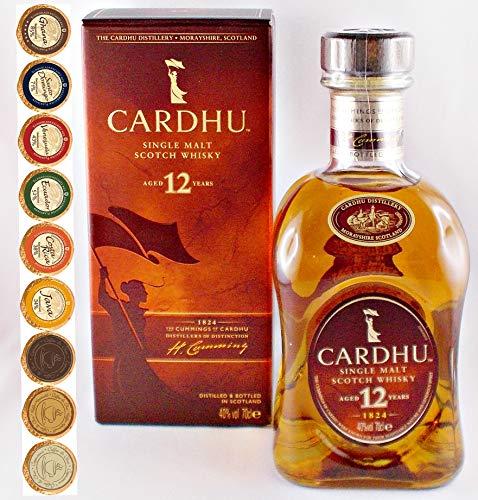 Cardhu 12 Jahre Single Malt Whisky + 9 Edel Schokoladen in 9 Sorten