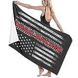 Yuanmeiju Toalla de baño Beach Towels Drag Racing Flag America Bath Towels For Teen Girls Adults Travel Towel Washcloth 31x51 Inches
