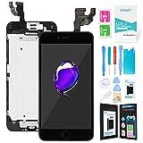 Ibaye Schermo per iPhone 6 Nero (4,7 Pollici) LCD Display Touch Screen Digitizer Parti di Ricambio (con Home Pulsante, Fotocamera, Sensore Flex) Utensili Inclusi