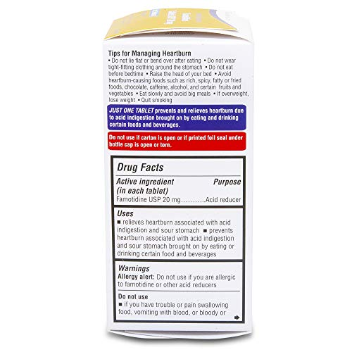 Aurohealth Maximum Strength Famotidine Tablets USP 20 mg