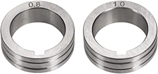 uxcell Welder Wire Feed Drive Roller 0.8-1.0mm Groove Roll Parts for Welding Machine Tool 2pcs