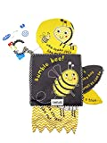 SNOWIE SOFT Baby Cloth Books, Nontoxic Soft Fabric Baby Educational Learning Toy Books (Bumble Bee)