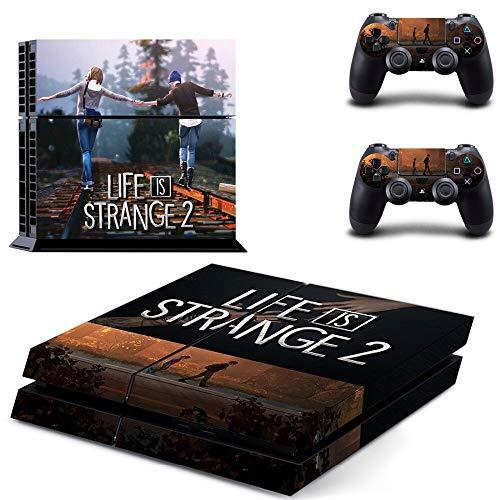 FENGLING Life Is Strange 2 Ps4 Skin Sticker Calcomanía para Playstation 4 Consola y 2 Controladores Skins Ps4 Pegatinas Accesorio de Vinilo