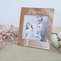 Porta foto personalizado Día de la Madre, metacrilato espejo rosa, regalo mamá