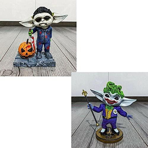 Yigenten Película de Terror Gnomos de jardín, Estatua de Asesino de película de Terror de Halloween, Estatuas de gnomo de jardín de Nightmare Killer, Figuras de Resina de Halloween (de)