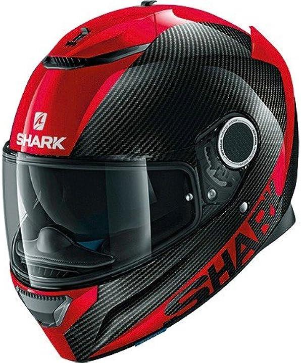 Casco da moto shark spartan carbon skin drr nero/rosso taglia m casco in fibra di carbonio + fibra vetro 2267_24824