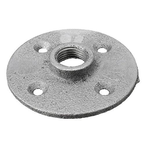 ランフィー 1/2 インチの細長いねじで固定床フランジ鉄配管パイプ継ぎ手