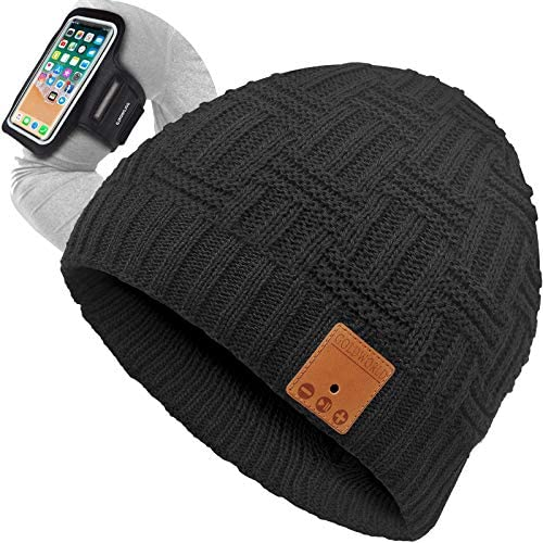 GoldWorld Bluetooth Beanie Bluetooth Hat Bluetooth Beanie Hat w Running Armband Unique Gifts product image