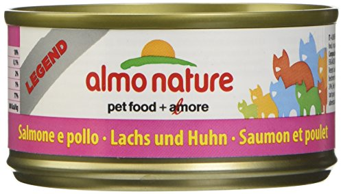 almo nature Megapack Katzenfutter nass Lachs und Huhn 6x70g, 1er Pack (1 x 0.420 kilograms)