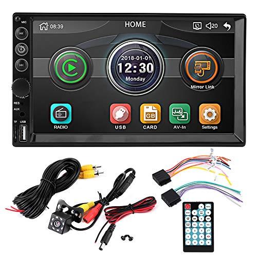 Car MP5 Player-7in Touch 2 Din Car Radio Bluetooth MP5-7062 Player 8LEDs Cámara de visión nocturna impermeable