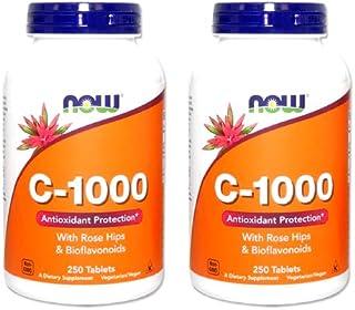 2個セット 【お得サイズ】ビタミンC-1000(ローズヒップ・バイオフラボノイド配合) 250粒(タブレット)[海外直送品]