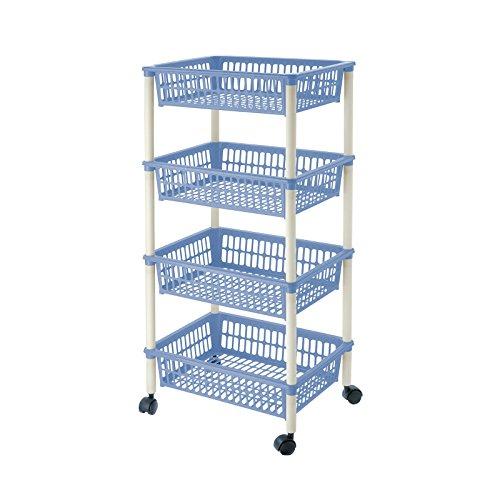 Lennox - Carrito verdulero 4 cestos 40x85 Mito Azul