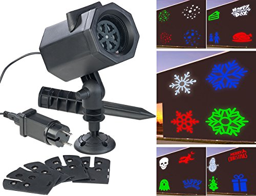Projecteur LED RVBB 4,6 W indoor/outdoor 5 motifs lumineux [Lunartec]