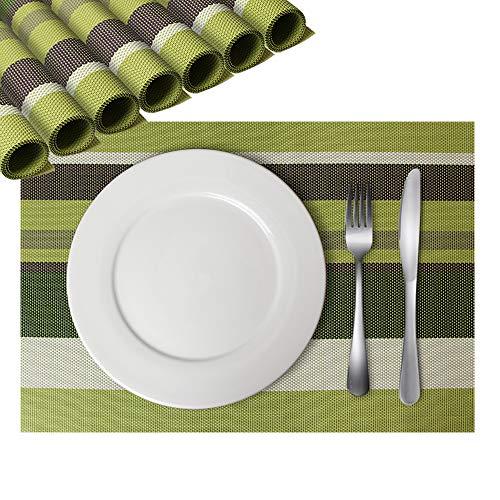 DOXHAUS lavabile PVC tovagliette set di 8antiscivolo resistente al calore tovaglietta per cucina tavolo da pranzo #1