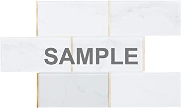 Modket TDH50MDR-S Sample Alumimnum Metal Brickjoint Stack Pattern Modern Mosaic Tile Backsplash Kitchen Bath Bathroom Shower Interior Wall