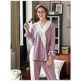 RPP-Pajamas Pijamas De Mujer - Pijamas De Mujer Conjuntos De Mujer Ropa De Dormir De Manga Larga Ropa De Dormir para Mujer Conjuntos De Salón Suaves(Color:C,Size:S)