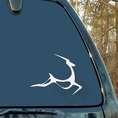 14x11Cm Art Jumping Gazelle Herten Gepersonaliseerde Auto Sticker Fansy Motorfiets Bumper Auto Venster Laptop Auto Styling voor Auto Laptop Window Sticker