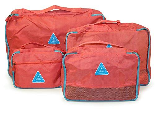 HAUPTSTADTKOFFER - Reisekoffer-Organizer Koffer-Organizer Kleidertasche Packtasche 4-teiliges Set Koralle