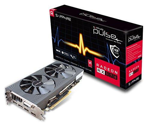 Sapphire Radeon RX 5704GB GDDR5Pulse Radeon RX 5704GB GDDR5–Scheda grafica, AMD, Radeon RX 570, 3840x 2160Pixeles, 1284MHz, 4GB, GDDR5)