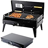SunJas Barbecue Barbecue à charbon,BBQ Barbecue Four de Charbon Portable Standgrill...