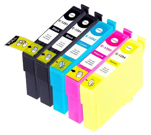 5 Multipack alta capacidad Epson T1295 Cartuchos Compatibles