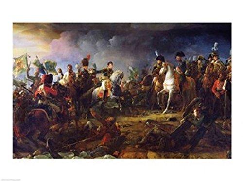 Impressão em pôster da Batalha de Austerlitz de Francois Gerard - 61 x 45 cm.