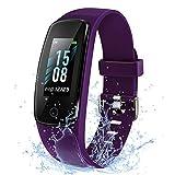 ETEKCITY Orologio Fitness Tracker Smartwatch Cardiofrequenzimetro da Polso Impermeabile IP68 con Funzione Contapassi, Pedometro, Sonno Monitor Contacalorie per Android iOS Xiaomi Samsung Huawei Viola