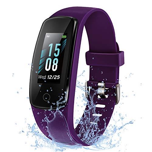 ETEKCITY Fitness Armband Fitness Tracker, Smartwatch Wasserdicht IP67, Sportuhr mit Schrittzähler, Aktivitätstracker, Farbbildschirm, Kalorienzähler, Anruf SMS SNS, Fitness Uhr für Damen Herren