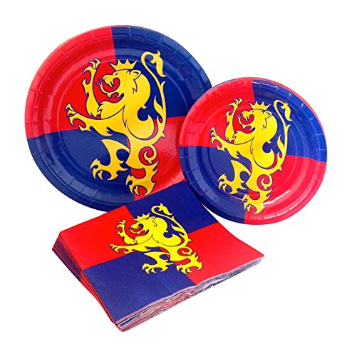Medieval Party Supply Pack! Bundle Includes Paper Plates & Napkins for 8 Guests