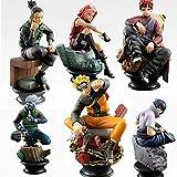 MNZBZ 6 unids/Set Naruto Figuras de Acción Muñecas PVC Modelo de Juguete Anime Naruto Figur Sasuke G...