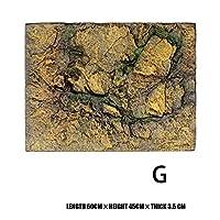 ペット 爬虫類の魚タンクのための3Dの泡の岩の石水族館の背景板の装飾泡ボード60x45cm 1月88日 (Color : Black set)