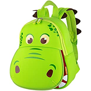 yisibo Kids 3D Cartoon Dinosaur Backpack Green:Ukcustomizer