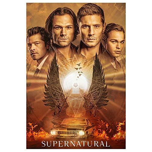 AyTieSa Supernatural TV Poster Volle Runde 5D DIY Diamantmalerei Diamant Mosaik Stickerei Kreuzstich Wandbilder