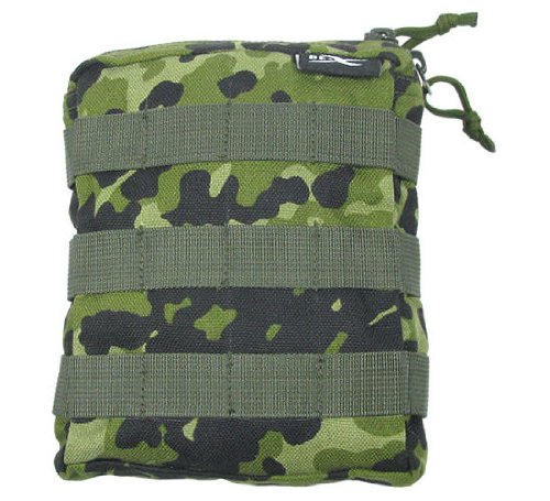 BE-X Stapelbare Tasche -Shingle klein- mit MOLLE, für MOLLE - dänisch tarn