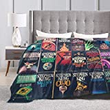 Fomente Stephen King Book Fronts Ultra Soft Micro Fleece Blanket Couch 50'' x40