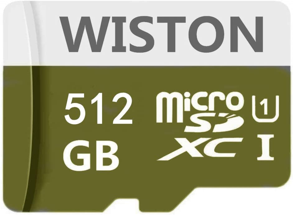 512GB Micro SD Card High Speed Class 10 SDXC Memory Card with SD Adapter