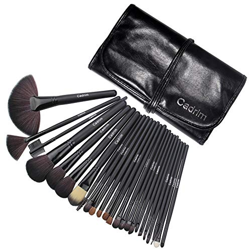 Make Up Pinselset Kosmetik Pinsel Lidschattenpinsel Rougepinsel Set (24er in Schwarz)