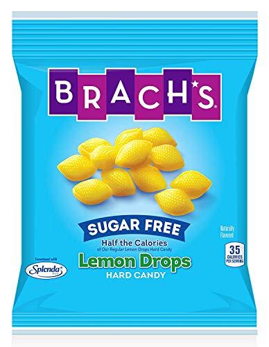Brach's Sugar Free Lemon Drops Hard Candy, 4.5 Ounce Bag (Pack of 12)