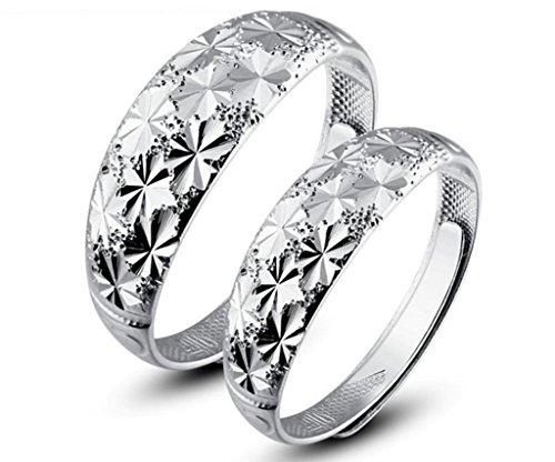Infinite U Copo de Nieve Plata Esterlina 925 Parejas/Novios Anillos para Boda/Matrimonio/Aniversario/Compromiso/Promesa...